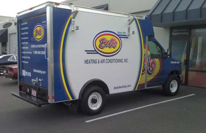 Mini Cube Box Truck Wrap