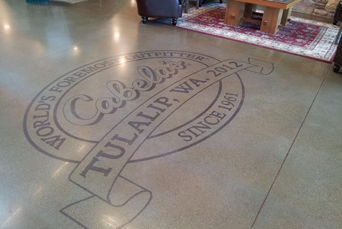 Cabela's Etched Floor logo