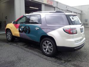2015 GMC Acadia Vehicle Wrap for Logo Unlimited