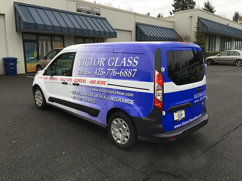 victor glass gets new wrap jj graphics and signs. Black Bedroom Furniture Sets. Home Design Ideas
