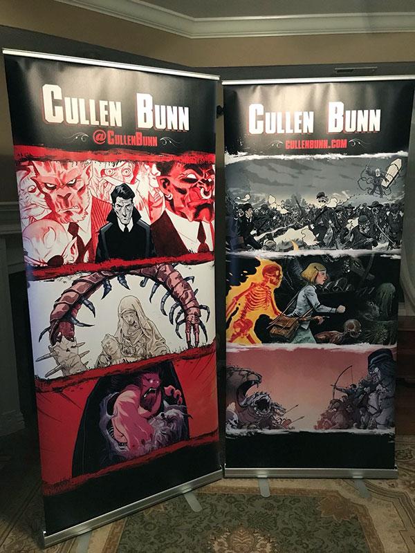 Banner Stands for Mr. Cullen Bunn, Comic Writer Extraordinaire!
