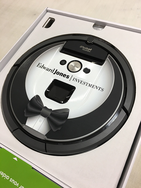 Roomba 960 Graphics for Edward Jones Investments