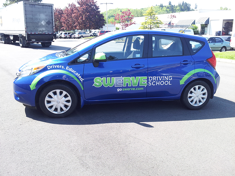 New graphics for Swerve Driving School – Blue Nissan Versa Note